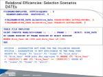 relational efficiencies selection scenarios dates36