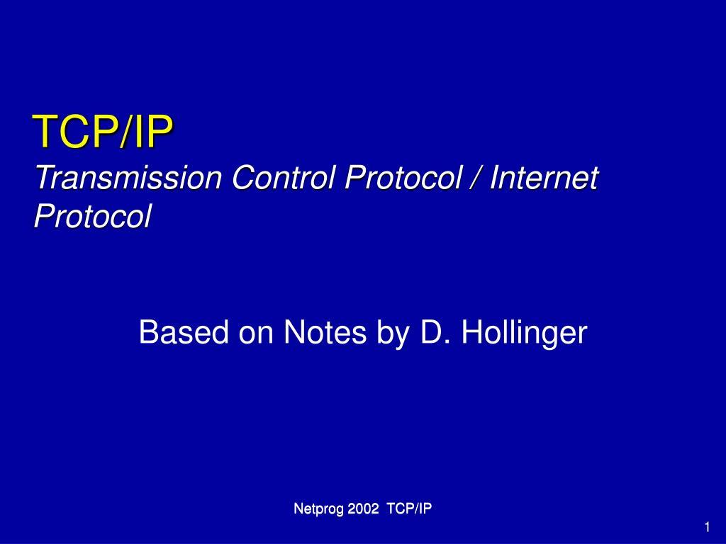 tcp ip transmission control protocol internet protocol l.