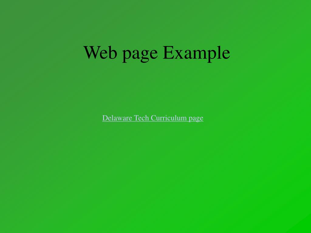 Web page Example