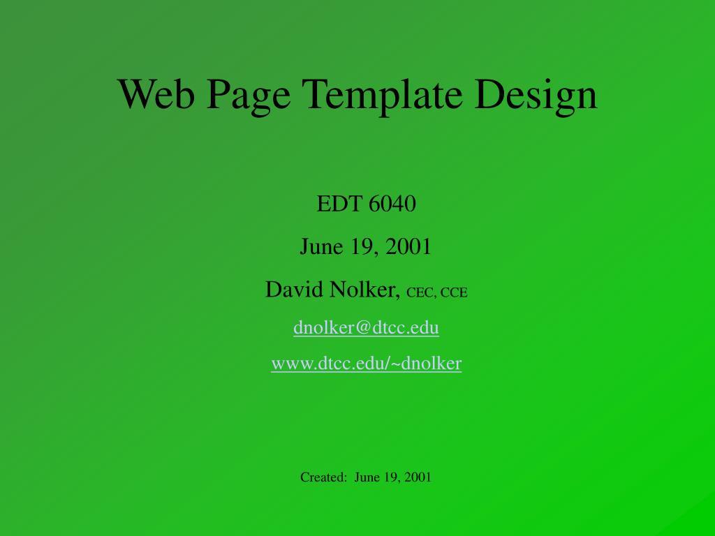 web page template design l.