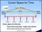 cursor space for time