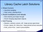library cache latch solutions