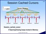 session cached cursors