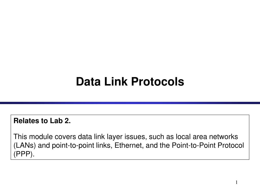 data link protocols l.