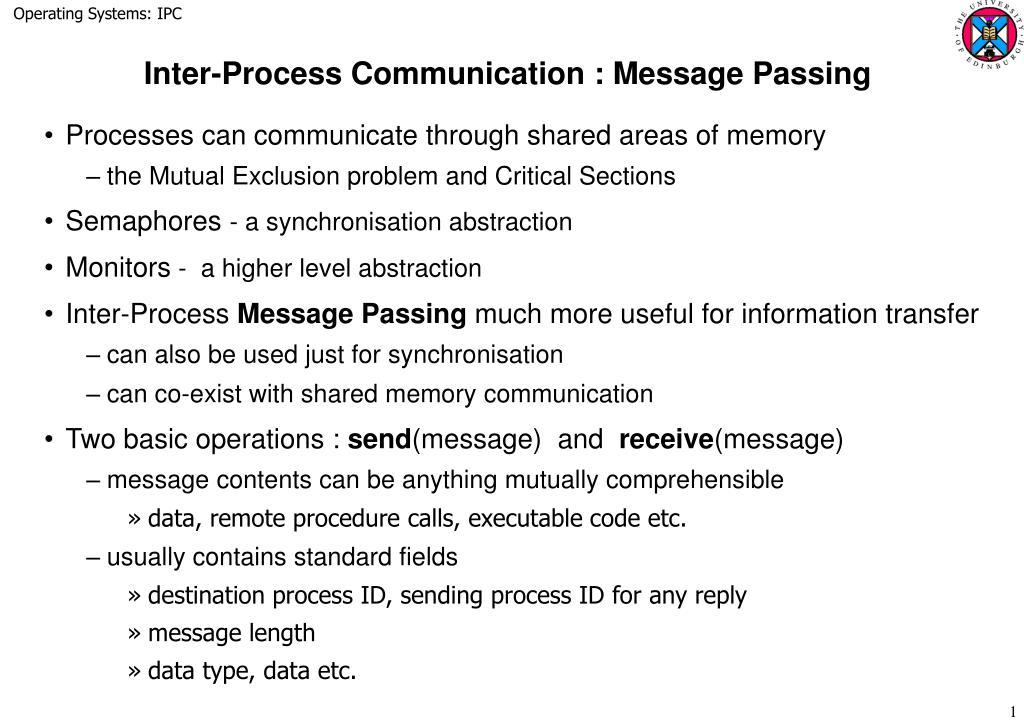 inter process communication message passing l.