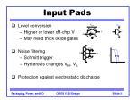 input pads