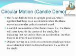 circular motion candle demo