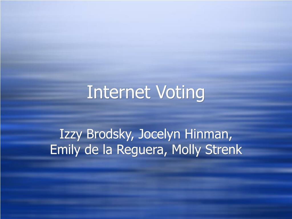 internet voting l.