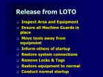 release from loto