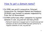 how to get a domain name