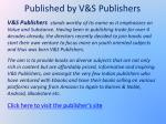 published by v s publishers