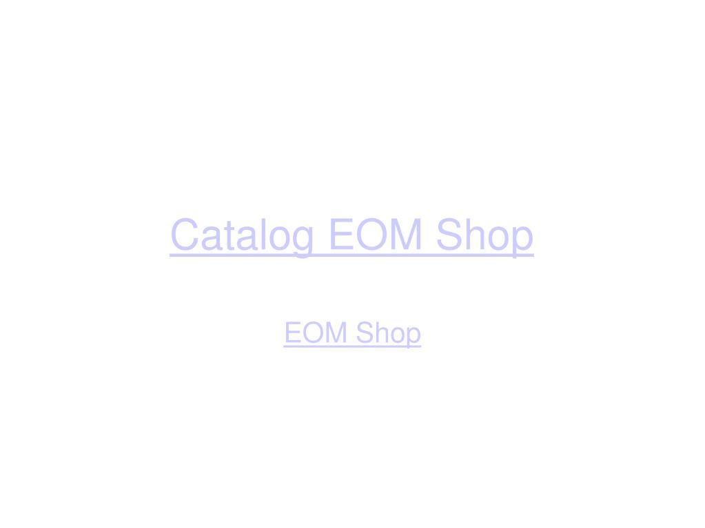 catalog eom shop l.