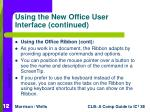 using the new office user interface continued12