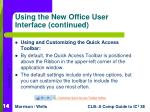 using the new office user interface continued14