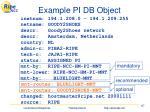 example pi db object