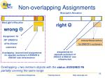 non overlapping assignments