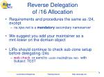 reverse delegation of 16 allocation