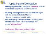 updating the delegation