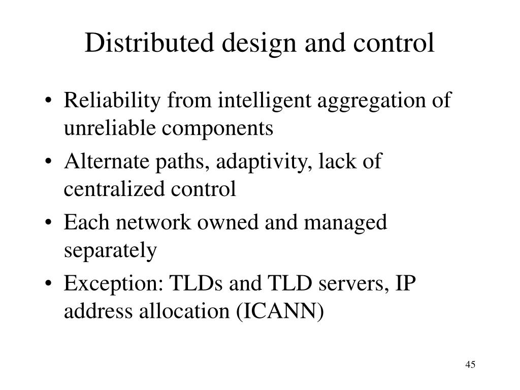 Distributed design and control