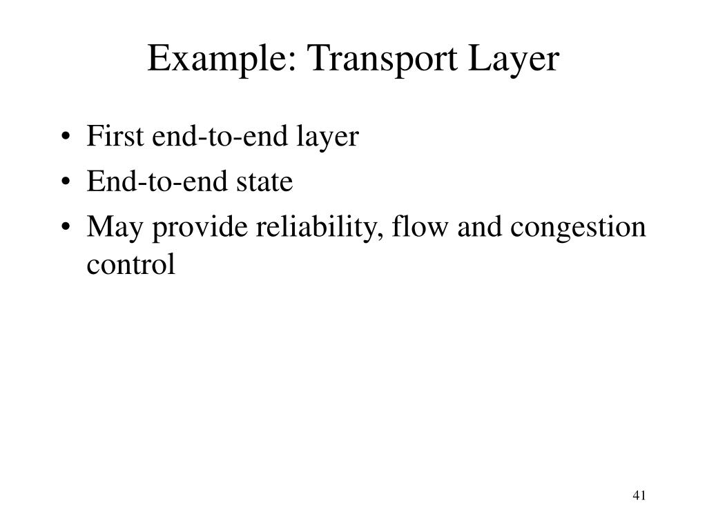 Example: Transport Layer