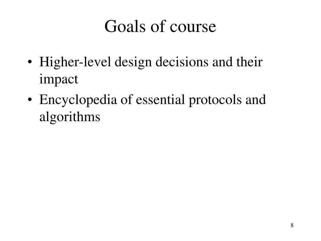 Goals of course