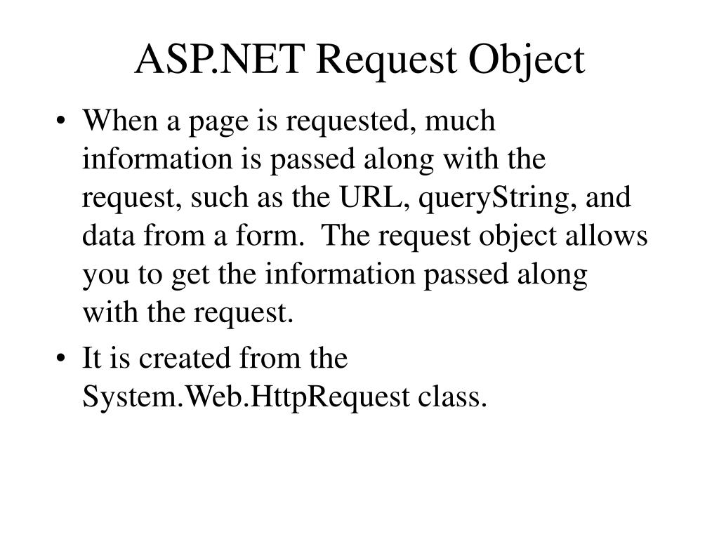 ASP.NET Request Object