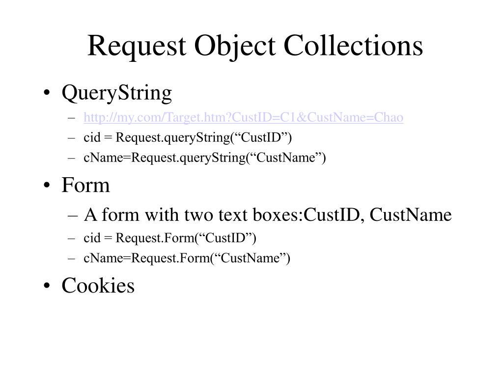 Request Object Collections