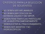 criterios para la selecci n de solventes30