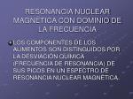 resonancia nuclear magn tica con dominio de la frecuencia