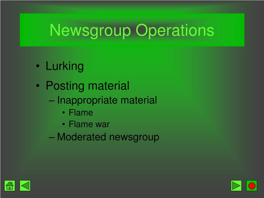 Newsgroup Operations