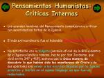 pensamientos humanistas cr ticas internas