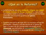 qu es la reforma