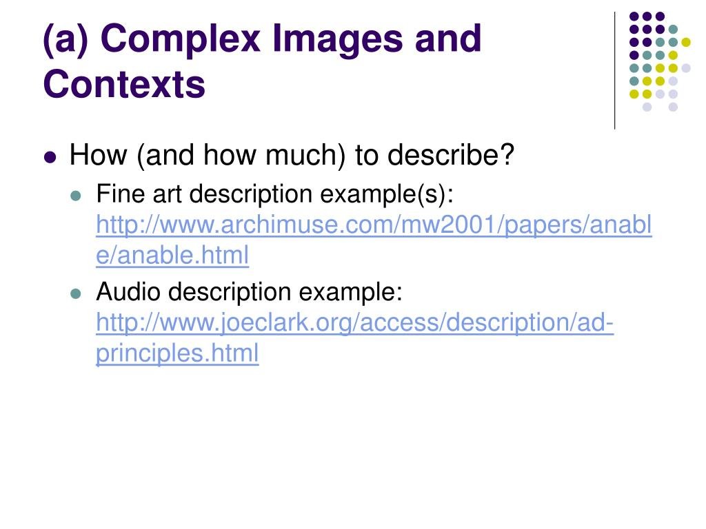 (a) Complex Images and Contexts