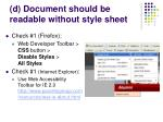 d document should be readable without style sheet