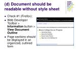 d document should be readable without style sheet33