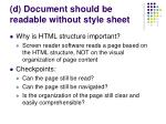 d document should be readable without style sheet34