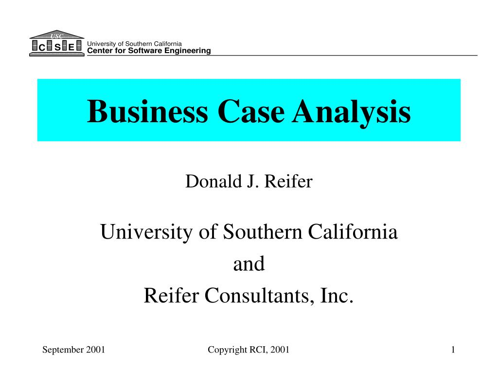 business case analysis l.