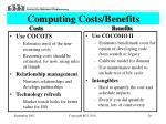 computing costs benefits