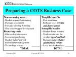 preparing a cots business case