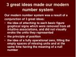 3 great ideas made our modern number system
