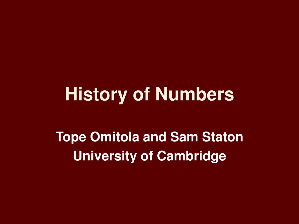 history of numbers l.