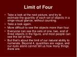 limit of four