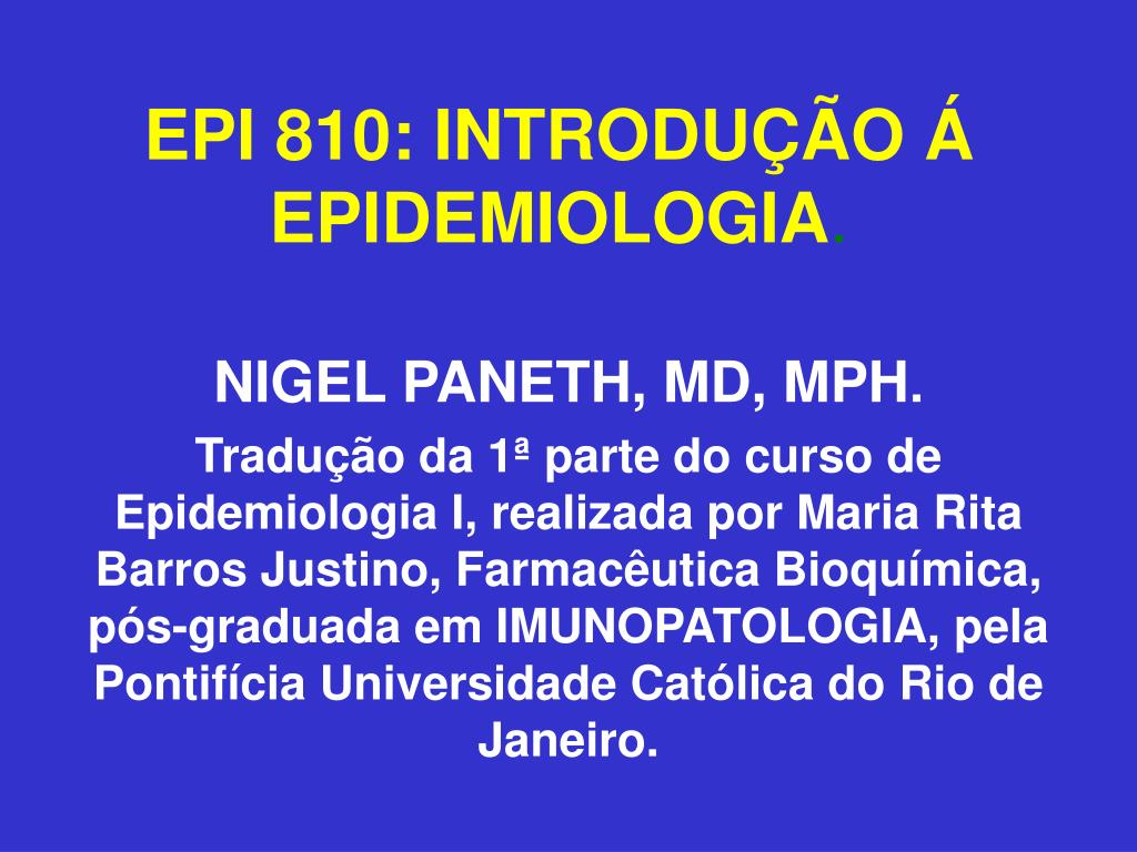 epi 810 introdu o epidemiologia l.