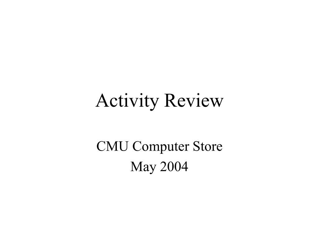activity review l.