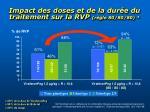 impact des doses et de la dur e du traitement sur la rvp r gle 80 80 80