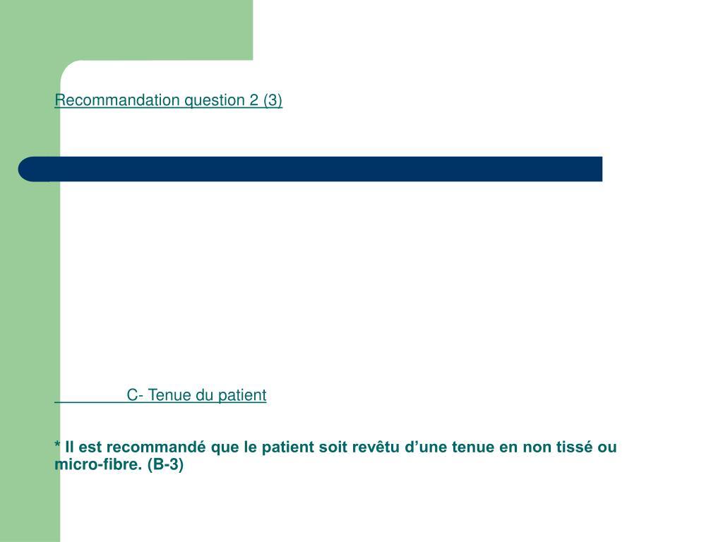 Recommandation question 2 (3)