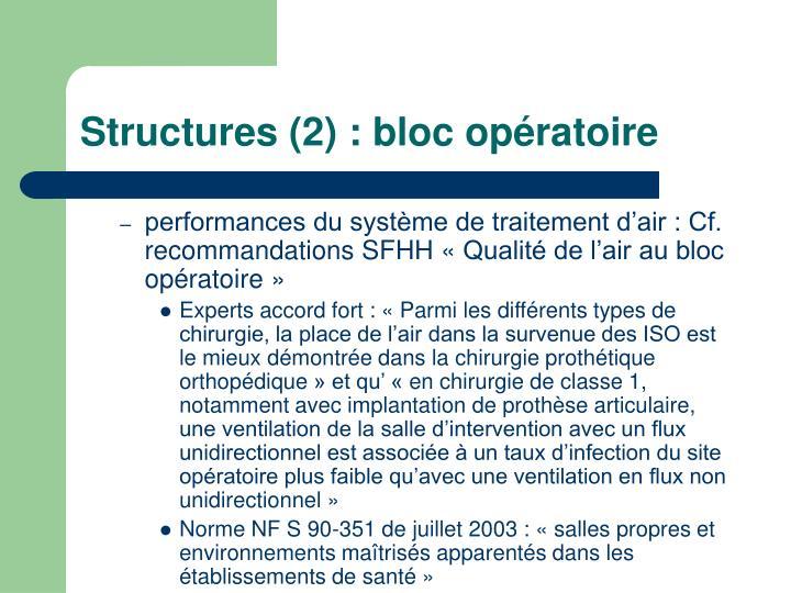 Structures 2 bloc op ratoire