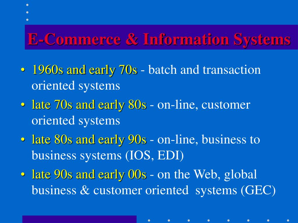 E-Commerce & Information Systems