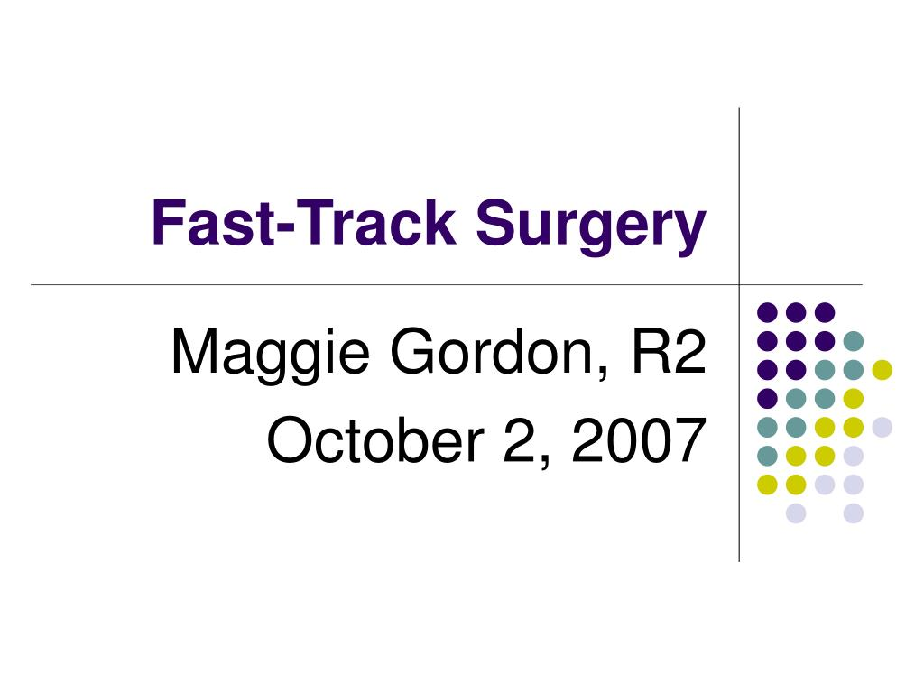 fast track surgery l.