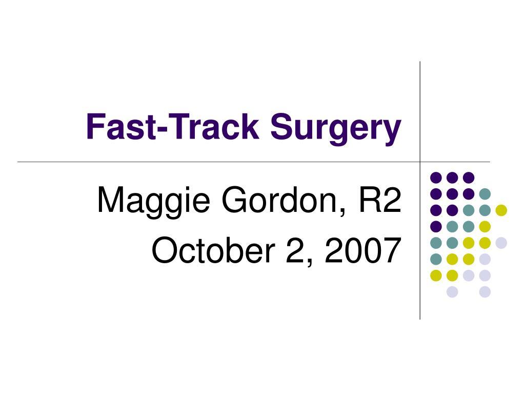 fast track surgery l.